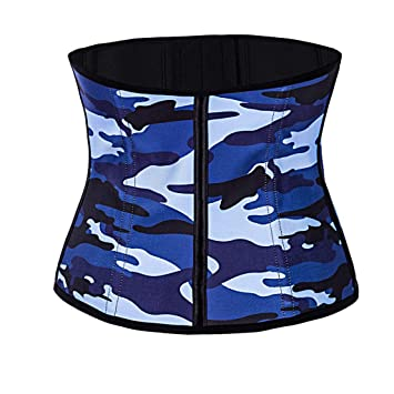3bbdeb77fa0 Amazon.com  Allywit Women Camouflage Waist Trainer Underbust Corset ...