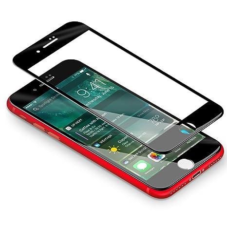 2860ddf6d82 Vetro Temperato iPhone 7/ 8, Coolreall [3D Full Coverage] Pellicola per  Apple
