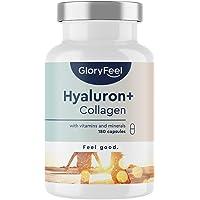 Hyaluronzuur + Collageen met Vitamine C van Acerloa, Biotine, Selenium, Zink en Bamboe Extract - 180 veganistische…