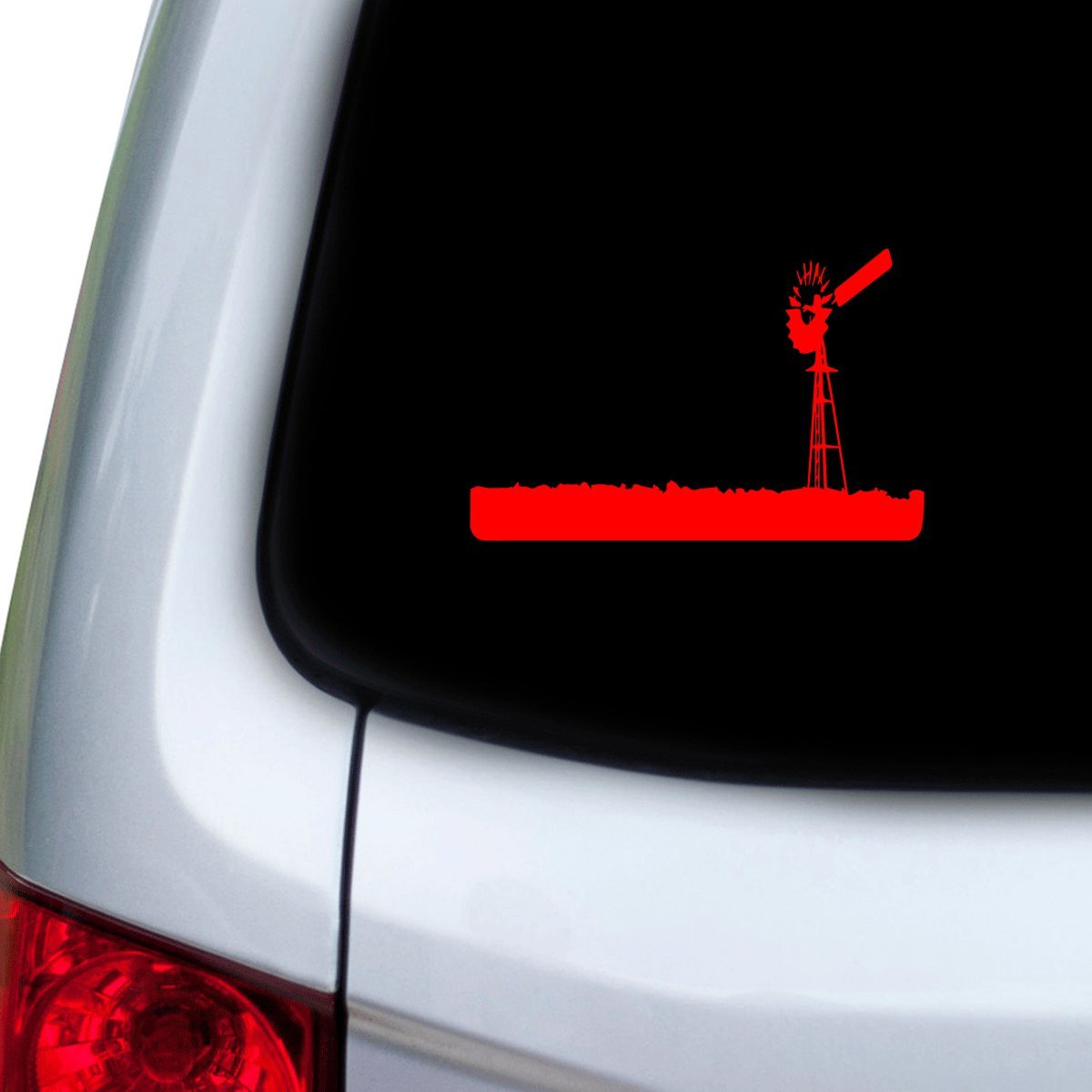 Hoods Red StickAny Car and Auto Decal Series Old Windmill Sticker for Windows Doors