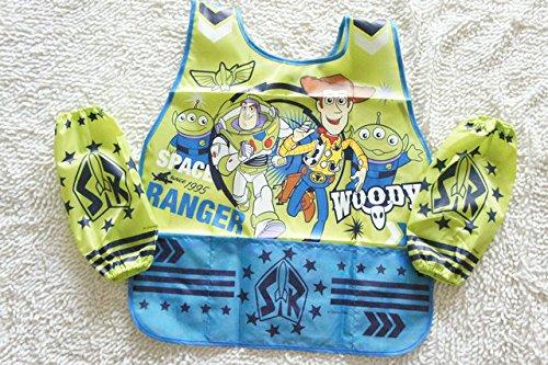 CJB Toystory Woody Buzz Lightyear Water Resistant Kids School Art Paint Smock Bib Apron with Sleeves Muff (US -