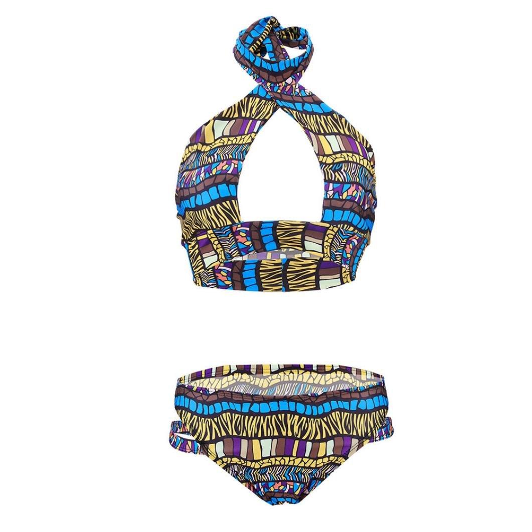 Hunzed Women【Swim Trunks】Clearance Womens High Waisted Bikini Bottom Ruched Tankini Briefs Swim Shorts