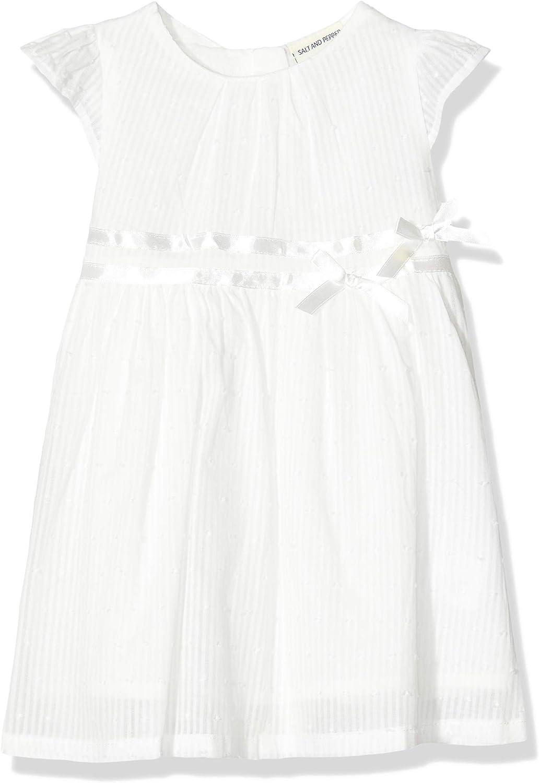 Salt /& Pepper Baby Girls Mit R/üschen Am /Ärmel Dress