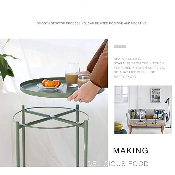 Amazon.com: Jcnfa-Tables Tray Metal End Table, Sofa Table ...