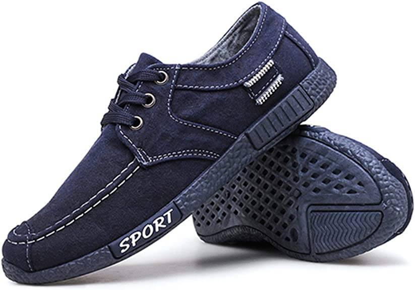 Classic Style Breathable Lace up Canvas Shoes Low Top Sneakers Sport Runner Skate Shoes gracosy Canvas Casual Shoes