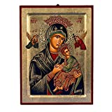 Virgin Mary of the Passion (Lady of Perpetual Help) Greek Painted Icon
