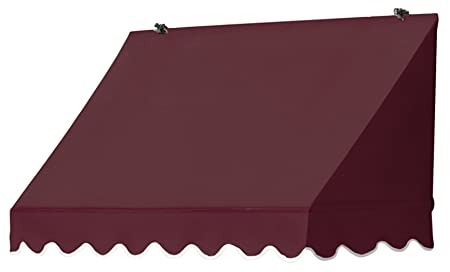 Awnings in a Box 3020706 Traditional Window Awning, 4 Burgundy