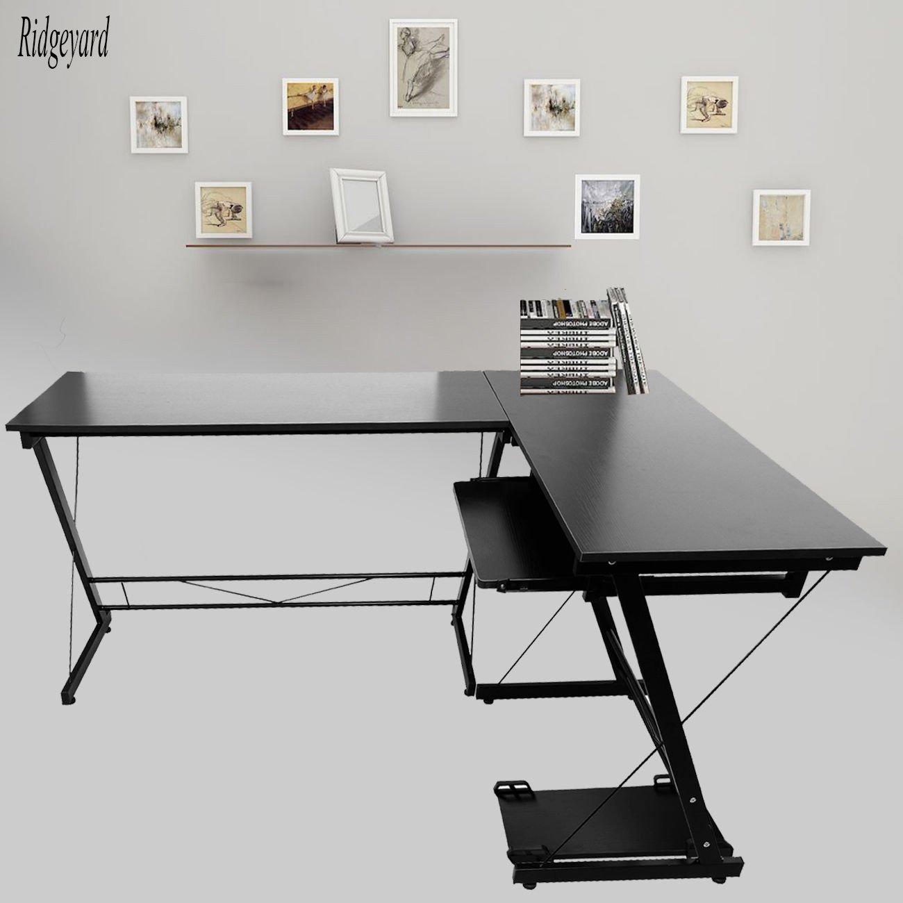 Stunning ridgeyard angolo computer scrivania a forma di l for Scrivanie per studio in casa