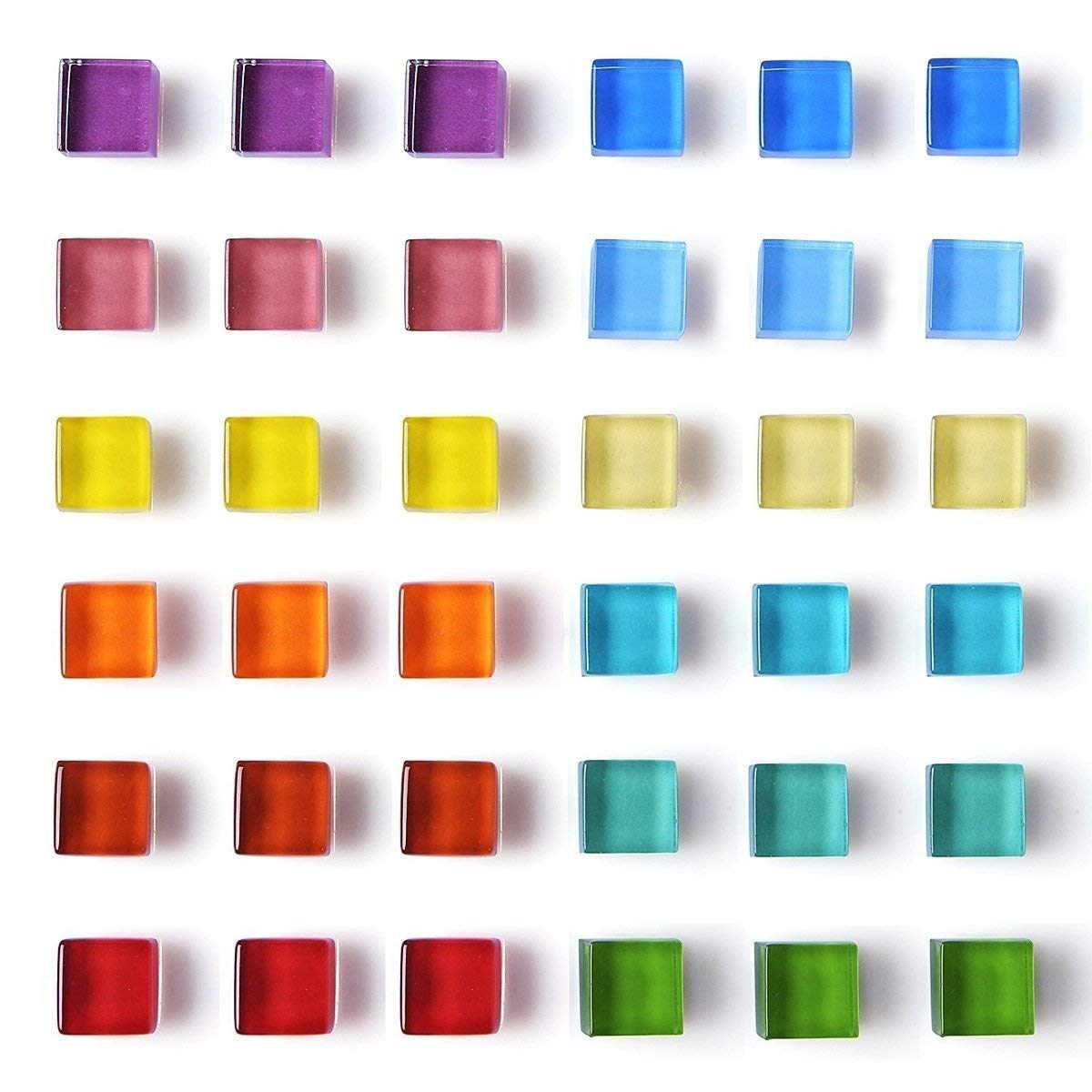 DIYSELF 36 Pack Glass Fridge Magnets Refrigerator Magnets Office Magnets Small magnets Colorful Magnets for Whiteboard