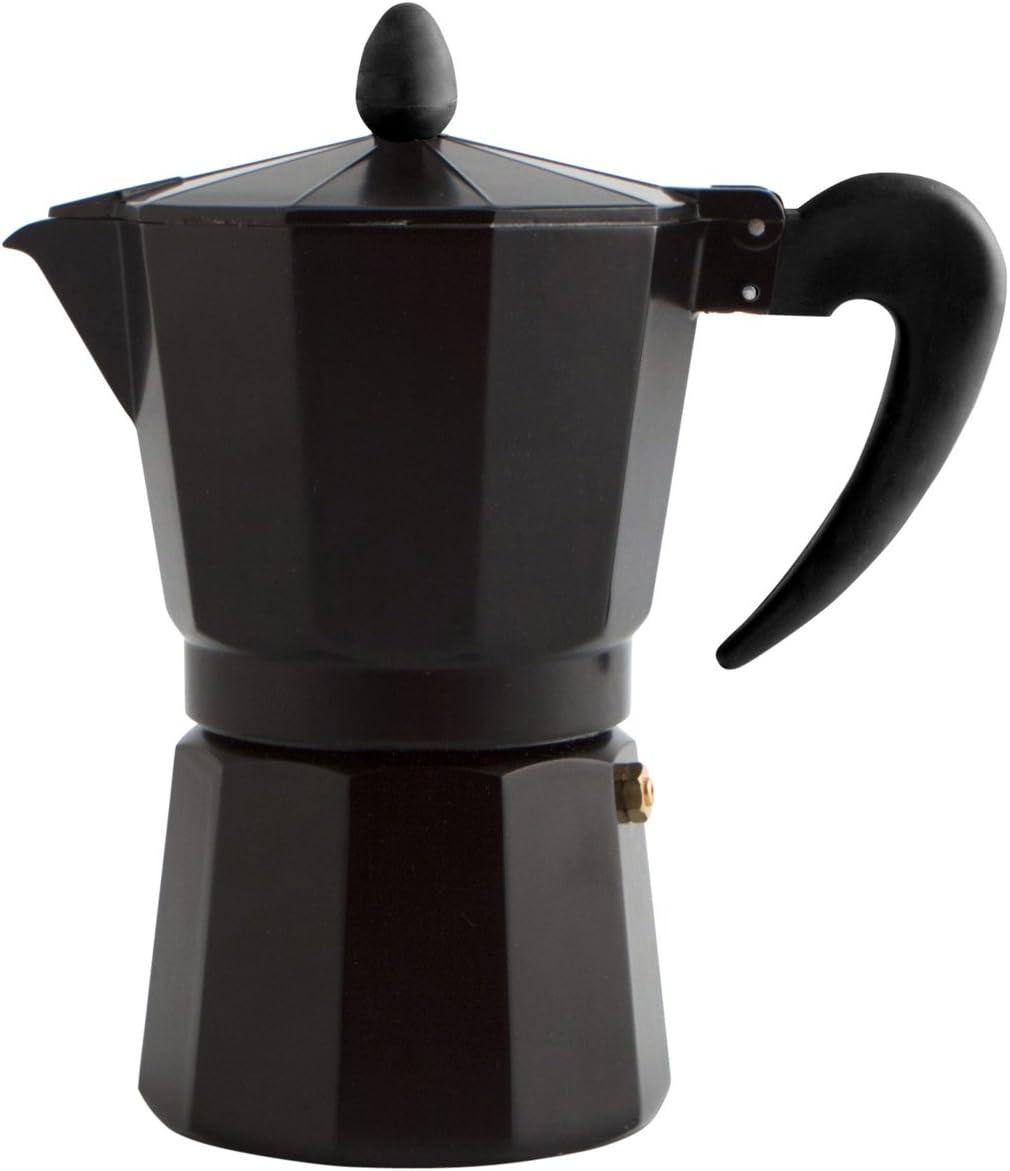 Quid Cafetera Italiana, Negro, 9 Tazas: Amazon.es: Hogar