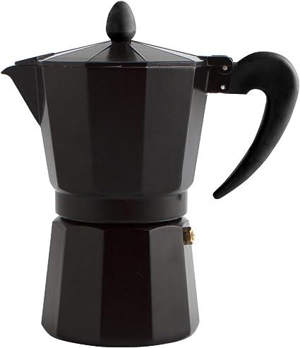 Quid Cafetera Italiana, Acero Inoxidable, Negro, 3 Tazas: Amazon ...