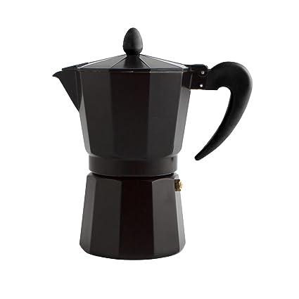 Quid Cafetera Italiana, Negro, 6 Tazas