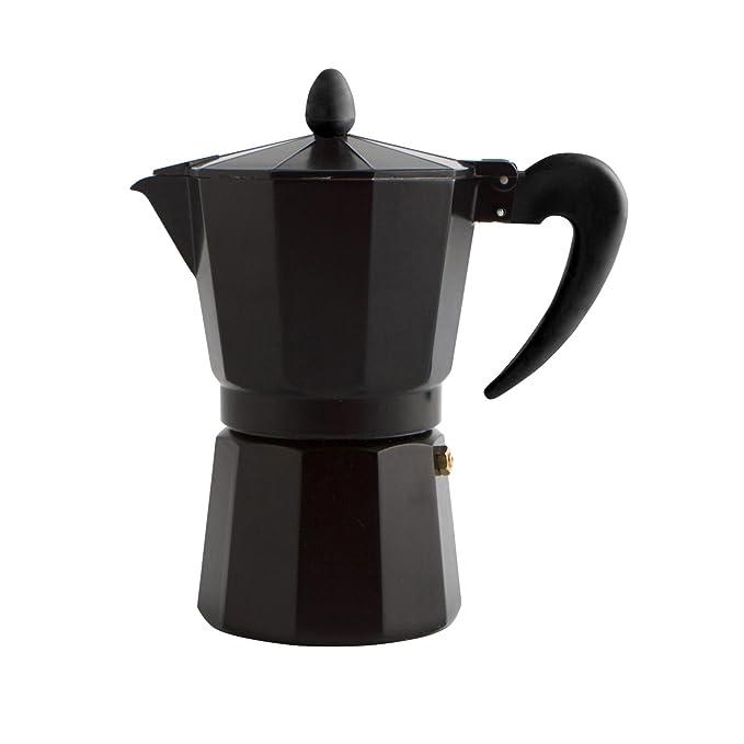 Quid Cafetera Italiana, Negro, 3 Tazas: Amazon.es: Hogar