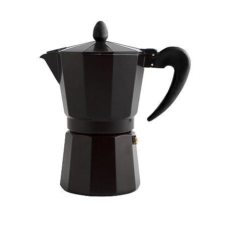 Quid Cafetera Italiana, Negro, 6 Tazas: Amazon.es: Hogar