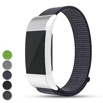 Feskio Fitbit Charge 2 - Correa para Reloj Inteligente (Correa de Nailon, Cierre de