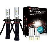 LED Headlight Bulbs Conversion Kit - 4WDKING H7 Fanless Copper Braid Heat Dissipation Super Bright Low Beam 60W 8000LM…