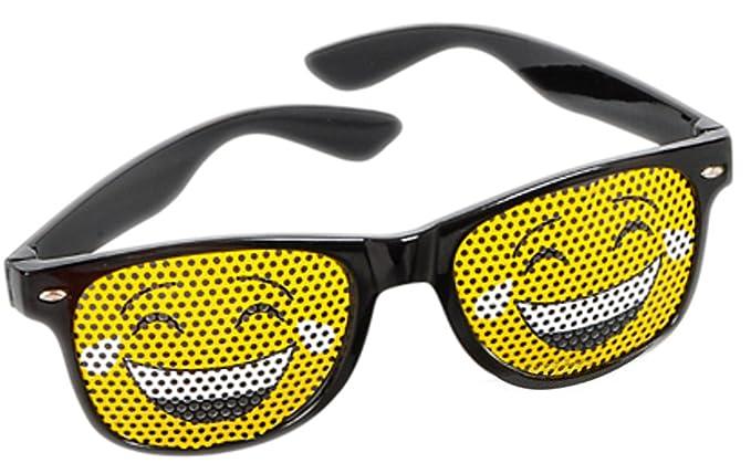 Amazon.com: Negro con marco Tear Risas Face Emoticon Emoji ...