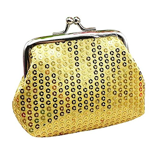 Ladies Wallet Wallet Coin 2018 Wallet Clutch Sequin Handbag Purse Gold Womens Noopvan Retro Clearance Small 718nq7dw