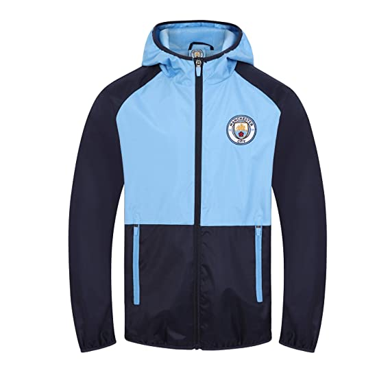 Manchester City FC - Chaqueta cortavientos oficial - Para niño ...