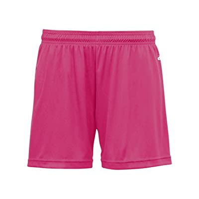 """Girls (4"""") Ladies (5"""") Athletic Moisture Management Wicking Sports Shorts (16 Colors in 9 Sizes for Soccer, Lacrosse, etc)"""