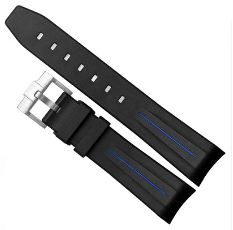 20 mmゴムバンドストラップW / Tang Buckle for Rolex GMTマスター16622 Yatch Watches ホワイト B078HRCFXD