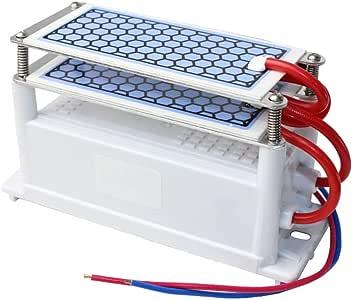 LQ Purificador de Aire portátil de ozono generador de cerámica 220V / 110V 10G Doble Long Life integrada Placa de cerámica de la desinfección del Aire del ozonizador,220: Amazon.es: Deportes y aire