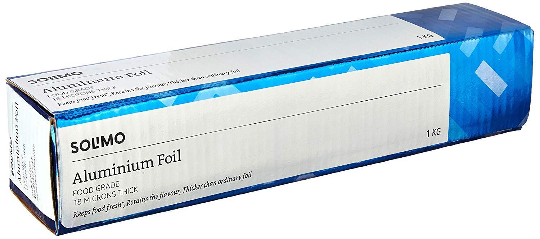 Amazon Brand - Solimo Aluminium Foil - 1 kg (18 Microns) product image