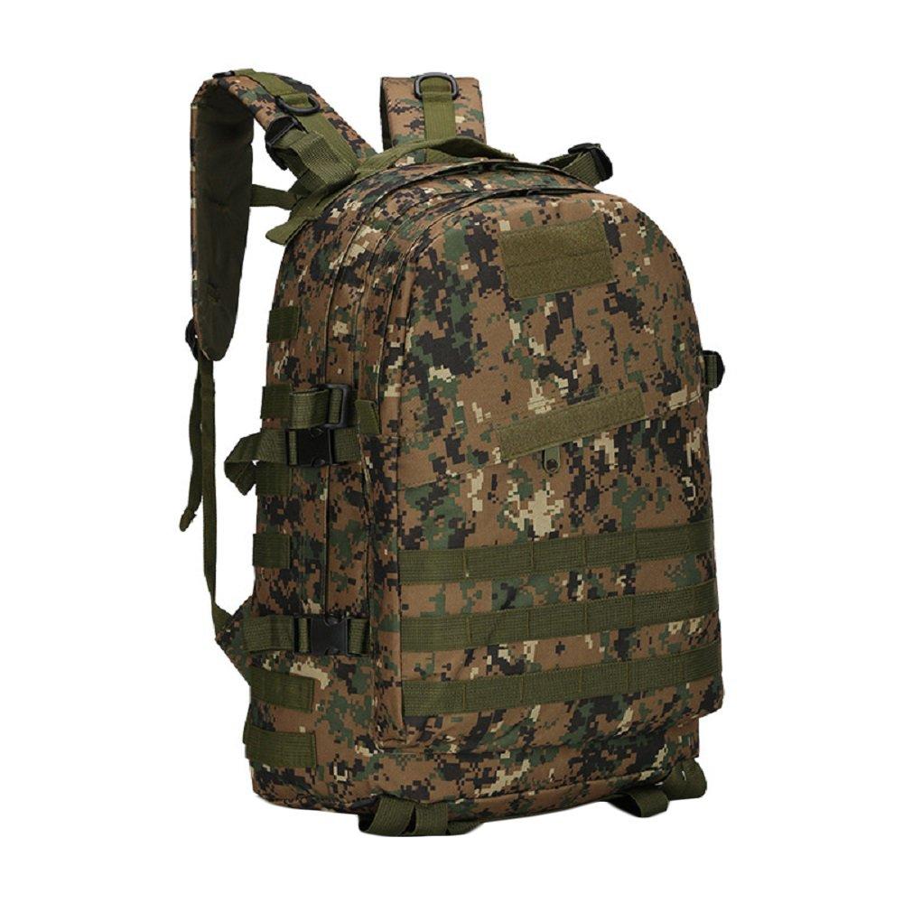 Military TacticalバックパックAssault PackリュックサックMOLLEバッグアウトドア登山ハイキングキャンプトレッキング狩猟、40l ( 10色) B0755FZ85Z  ジャングルデジタル(Junble Digital)