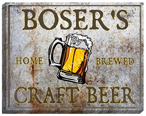 bosers-craft-beer-stretched-canvas-sign