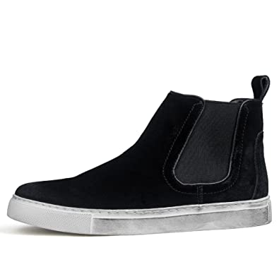 new men's boots in the autumn/Retro recreation of England set foot elastic ankle boots