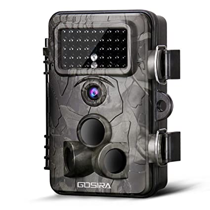 Gosira Trail Game Cameras 12MP HD 1080P Wildlife Hunting 0 4s-0 5s Trigger  940nm Updated Infrared LED Night Vision Deer Cam IP66 Waterproof Motion