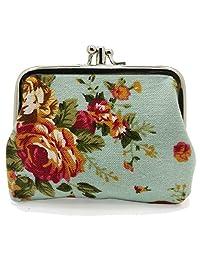 Cute Floral Buckle Coin Purses Vintage Pouch Kiss-lock Change Purse Wallets