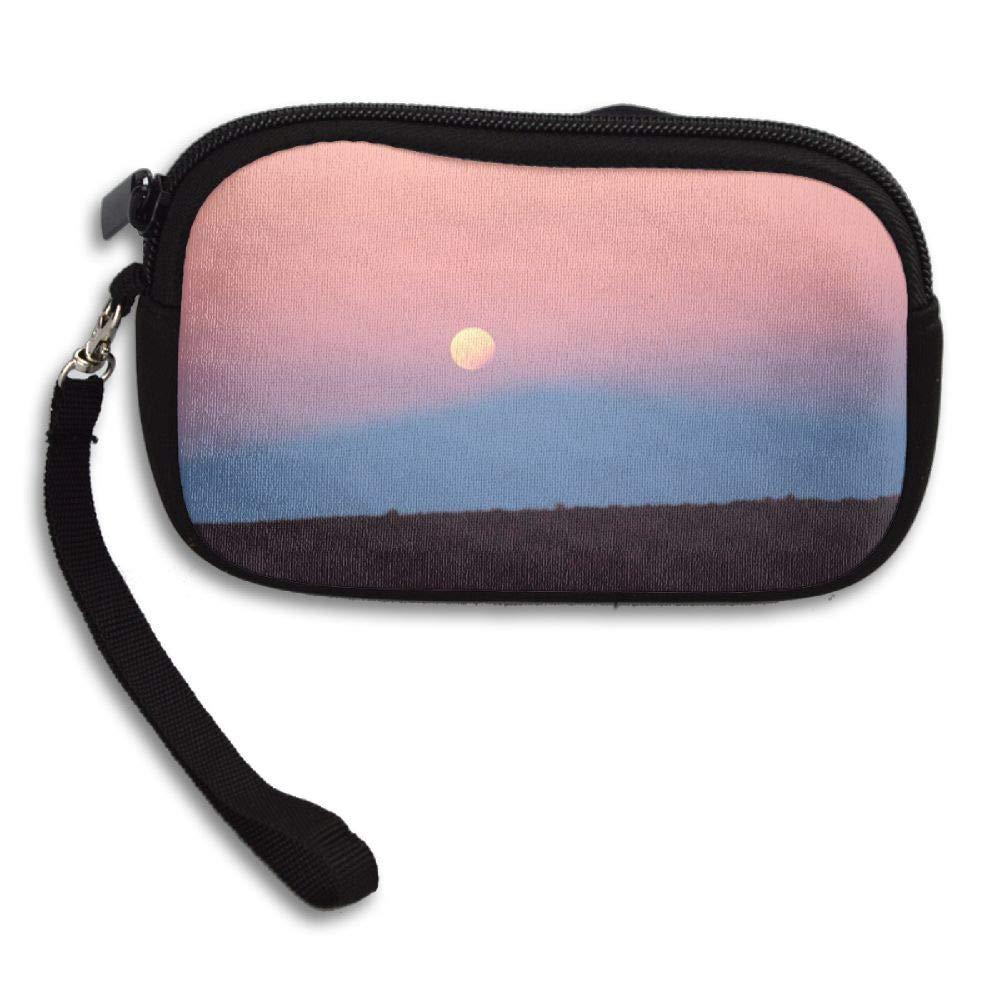 HACVREQ Unisex Personalized Wallet,Eclipse of The Moon Purse Bag Woman Ladies Men Gentlemen