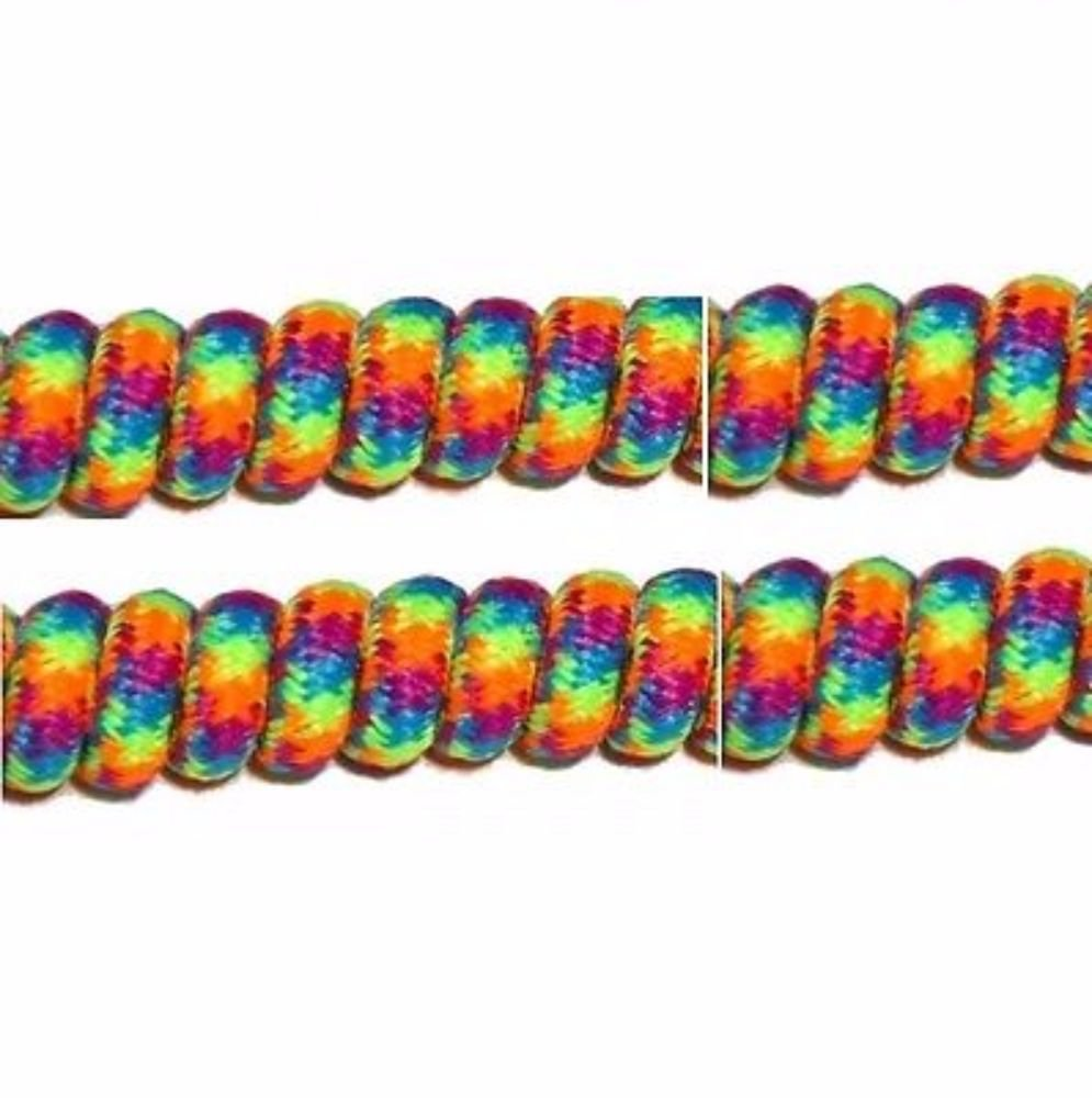 c8b2784e4ccd Amazon.com: No Tie Curly Shoe Laces Special Needs Fits Adult or Child Shoes  (Rainbow): Office Products