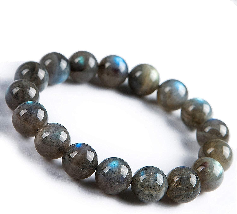 Yoga Women Men Bracelet Labradorite Smoky Quartz Larvikite Pyrite Bracelet Healing Gemstone Bracelet