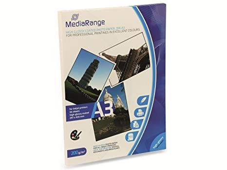 Amazon.com: MediaRange MRINK109, 7.05 oz/m2 Papel ...