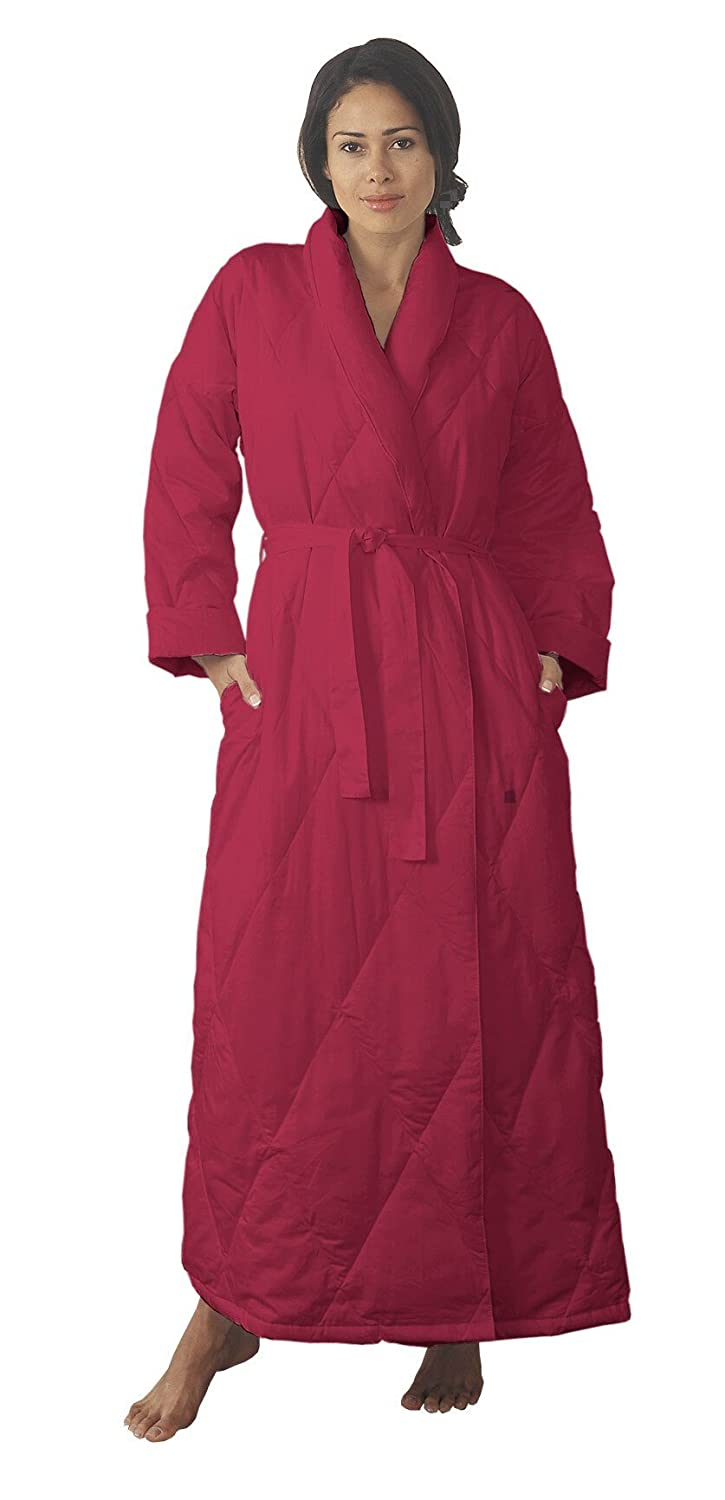 Warm Things Quilted Down Robe at Amazon Women\'s Clothing store: