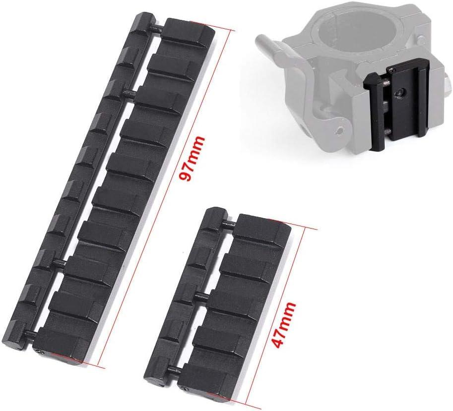 SHI-Y-M-MZJ Accesorios de Caza Picatinny//Weaver Low Pro Snap-in Adapter for Accesorios de Caza de riel de 11 mm a 20 mm Color : 4slots
