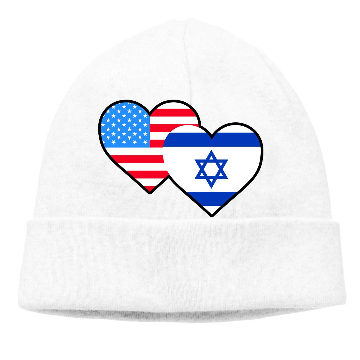 BBlooobow Men Women American Israel Flag Soft Knit Hats