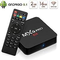 Android 8.1 TV Box Kingbox MXQ Pro 2GB/16GB(Support 32GB) Quad-Core Built-in WiFi 802.11 b/g/n Support 3D/4K(60Hz)/H.265