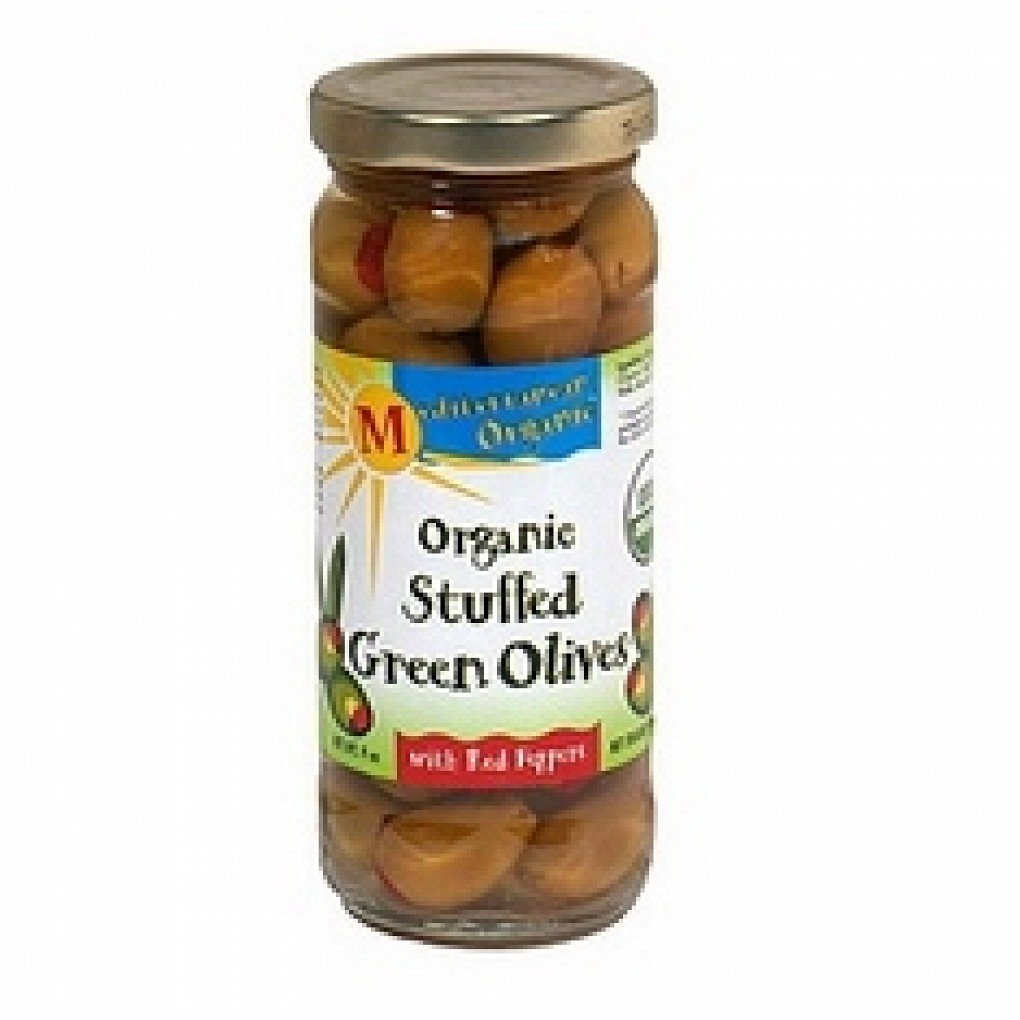 Mediterranean Org Stuffed Green Olives Red Peppers (12x8.5Oz )