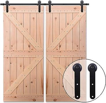 228cm/7.5FT Kit puerta granero herraje corredera,Puerta de Granero Corredera de Madera, Herraje para Puertas ...