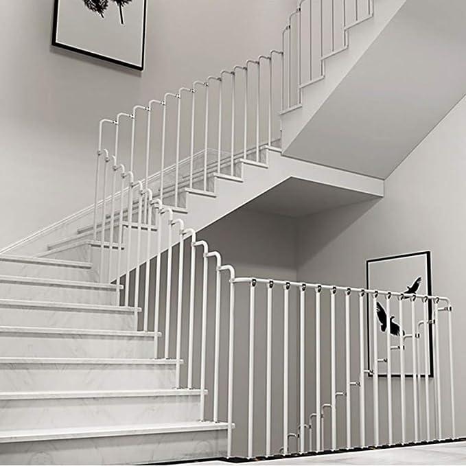Barandilla de Escalera Interior, Kit de Pasamanos de Acero al Carbono Negro/Blanco, Kit de Barandilla de Escalera Antideslizante, Adecuado para Villa/Apartamento/Ático, Fácil Instalación: Amazon.es: Hogar