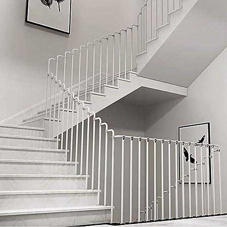 Barandilla de Escalera Interior, Kit de Pasamanos de Acero al Carbono Negro/ Blanco, Kit de Barandilla de Escalera Antideslizante, Adecuado para Villa/Apartamento/Ático, Fácil Instalación: Amazon.es: Hogar
