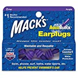Macks Mack's AquaBlock Earplugs, Purple