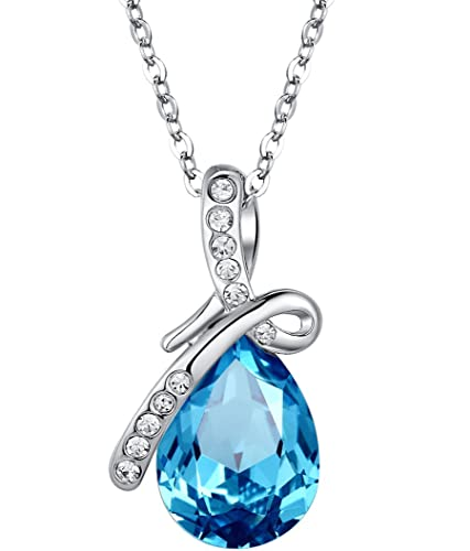 Arco Iris Schmuck Damen-Halskette mit Anhänger mit österreichischen kristall blau