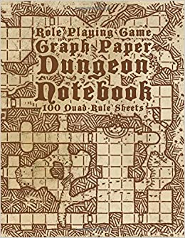 Off Charts Thousands Of Us Locales >> Role Playing Game Graph Paper Dungeon Notebook 100 Quad Rule Sheets