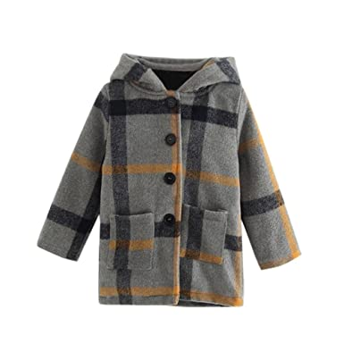 d84f26a378 HOMEBABY Baby Girls Winter Woollen Coat, Kids Girl Clothes Warm Thick Hooded  Coat Cashmere Jackets