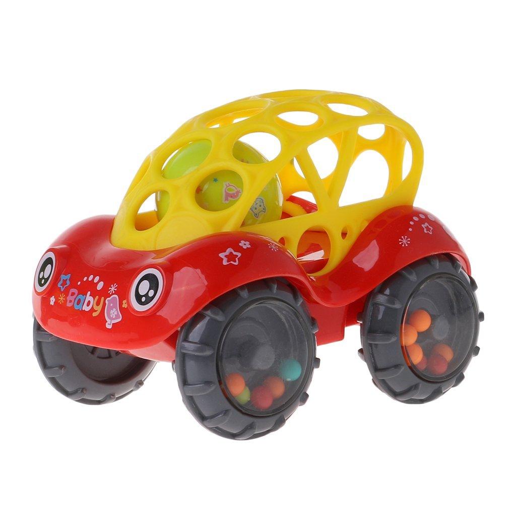 Ogquaton Beb/é Infantil Sonajero Rollo Silicona Coche Juguete Pl/ástico Suave Sonidos Flexibles Dentici/ón Ni/ños Jugar Durable y /útil