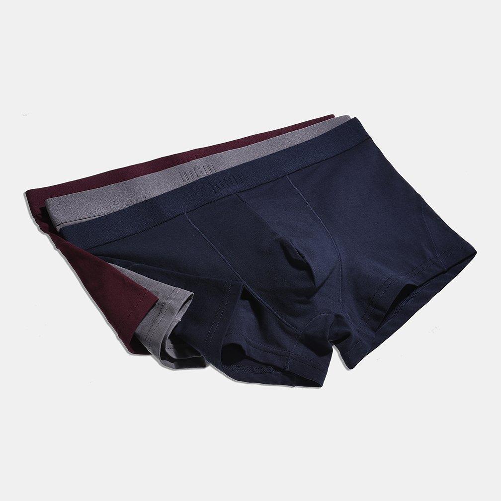 YVWTUC Mens Stretch Underwear Organic Cotton Flexible Boxer Briefs 4-Pack